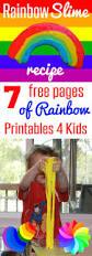 free rainbow printables and easy rainbow slime recipe