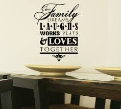 our family dreams laughs wall decal stickers subway art words