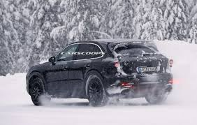 Porsche Cayenne Redesign - 2018 porsche cayenne prototypes are playing in the snow