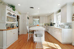 kitchen with white marble island stock images image 12656354