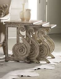 Romanesque Interior Design Romanesque Scroll Nesting Tables