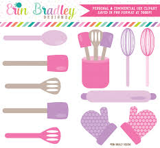 Baking Whisk by Baking Kitchen Clipart Graphics Pink U0026 Purple Cooking Utensils
