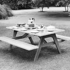 Plans To Build A Picnic Table And Benches by Woodworking Project Paper Plan To Build Picnic Table U0026 Benches