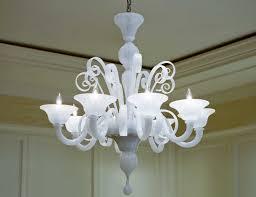 nella vetrina white murano 8 murano chandelier in white glass