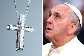 wear cross necklace images Pope francis slams 39 abuse of crucifix 39 by cross necklace wearers jpg