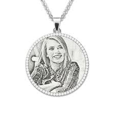 custom engraved pendant custom personalized photo engraved pendant sterling silver