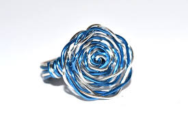 blue rose rings images Blue rose wire wrapped ring by mindarladesign jpg