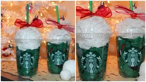 12 diys of christmas gift wrap using starbucks cups youtube