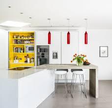 modern kitchen clock waterfall concrete countertop kitchen modern with concrete leed