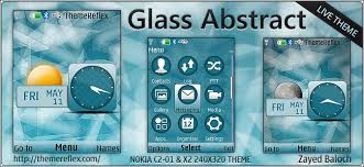 simnuvajne themes nokia c2 05 glass abstract live theme for nokia x2 00 c2 01 240 320 themereflex