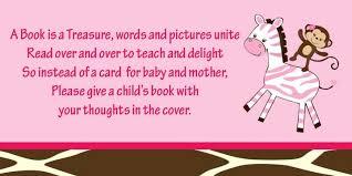 bring a book instead of a card poem help poem to bring book instead of card june 2011 babies