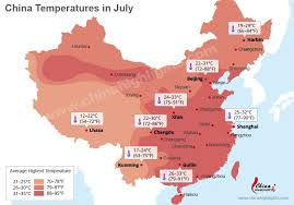 China weather in july climate and temperature in june in china