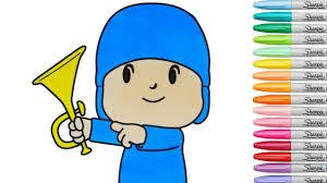 pocoyo coloring book episode coloring pages rainbow splash