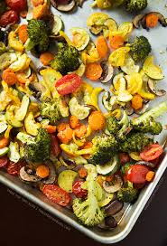 roasted vegetables table for two