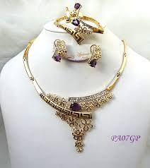 purple gold necklace images African gold plated jewelry sets uk jpg
