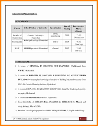 Resume Format For Diploma In Civil Engineering 5 Educational Qualification In Resume Mail Clerked