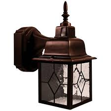 Motion Activated Outdoor Wall Light Antique Bronze 11 3 4