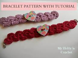 bracelet crochet patterns images My hobby is crochet crochet bracelet with heart button free jpg