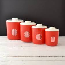 retro kitchen canisters vintage orange tupperware canister set 3 containers 3 lids
