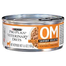 pro plan veterinary diets om overweight management savory