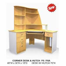 Corner Desk Hutch Custom Made Computer Desk S Custom Made Corner Desk Hutch F6 F6a