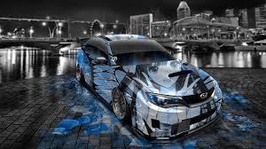 subaru wrx custom blue subaru impreza wrx sti jdm tuning anime aerography car 2014 el tony