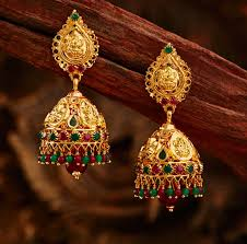 gold earrings jhumka design earring 6 gold jewellery bridal jewellery stores best