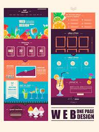 cuisine concept cuisine concept one page website design template stock vector