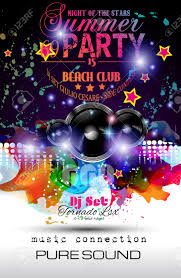 music themed disco night club flyer layout with speaker shape and music themed