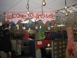 best cubicle christmas office decorating contest images on