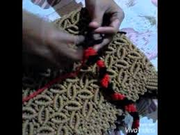 cara akhir membuat tas dari tali kur cara membuat tas tali kur husnul hotimah 4 youtube