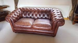 Distressed Leather Loveseat Good Quality Vintage Look Coach House Antiques Distressed Leather