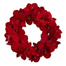 artificial christmas wreaths radiant amaryllis wreath artificial christmas wreaths