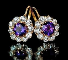 diamond earrings on sale vintage earrings for sale amethyst diamond antique jewelry