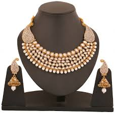 Buy Designer Gold Plated Golden Buy Touchstone Antique Gold Plated Rich Traditional Indo Western
