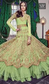 pista green color buy new bridal lehenga indian traditional lehenga