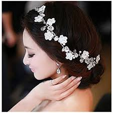 rhinestone hair diamond bridal wedding hair band