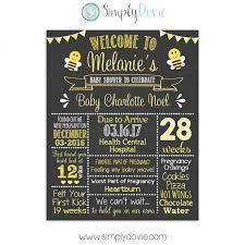 baby shower chalkboard bee baby shower chalkboard sign