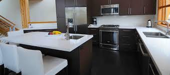 interior oak wooden kitchen cabinet design ideas with quartz