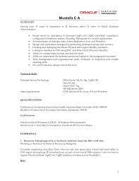 oracle apps dba resume
