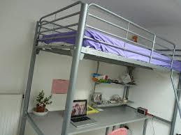lit mezzanine 1 place avec bureau photo lit mezzanine