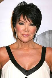 kris jenner hair 2015 summer short haircut for women over 50 dark pixie with fringe
