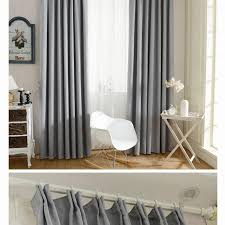 new solid twill window shade thick blackout curtains for living