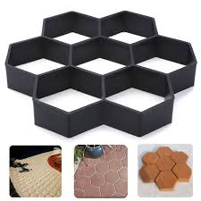 Concrete Driveway Paver Molds by Hexagon Driveway Paving Pavement Stone Mold Concrete Pathmate