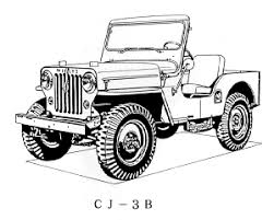 military jeep coloring page willys overland cj 3b for the jeep coloring book jeep coloring