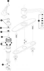 how to repair a leaky kitchen faucet moen single handle kitchen faucet repair diagram amazing design