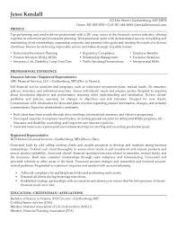 Life Insurance Resume Samples by Free Registered Representative Resume Example