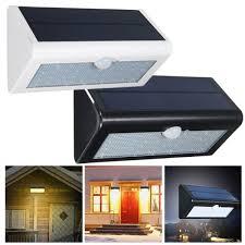 Solar Powered Fence Lights - 38 led white light solar power pir motion body sensor light