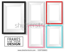 frames set templates your design realistic stock vector 530759683