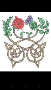 shamrock thistle representing scotland tattoos